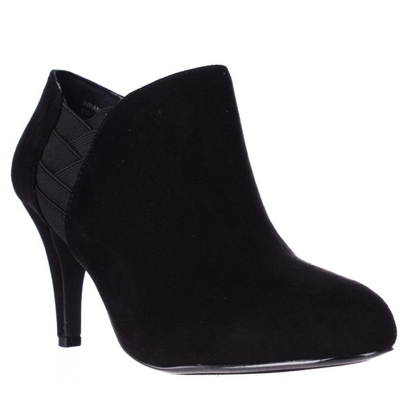 SC35 Arianah Side Strapped Dress Ankle Booties, Black