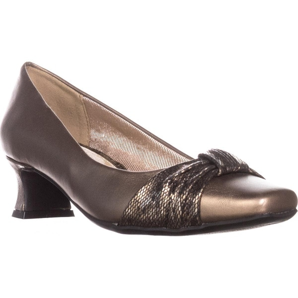Easy Street Waive Kitten Pump Heels, Bronze - 5.5 us