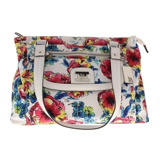 Style & Co. Womens Yassimen Floral Print Organizational Satchel Handbag - Medium