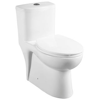"""Mirabelle MIRAL241  Alledonia One-Piece High Efficiency ADA Height Toilet with Elongated Bowl and 12"""" Rough In - Seat Included"""