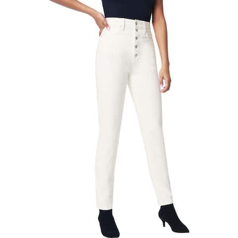 Joe's x WeWoreWhat The Danielle Women's Vintage High-Rise Straight Leg Jeans - Bone