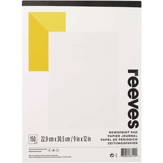 """150 Sheets - Reeves Newsprint Paper Pad 9""""X12"""""""
