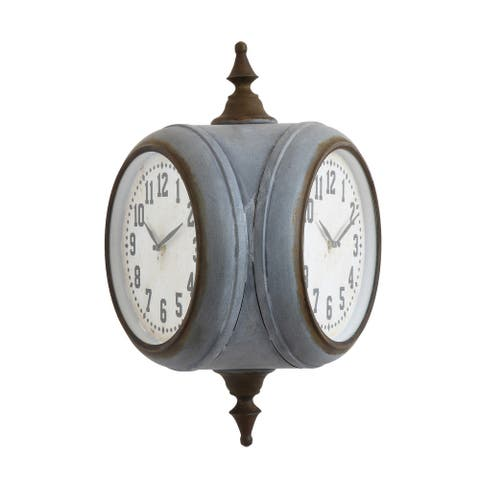 Metal Double Sided Wall Clock