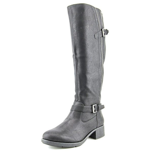 Style & Co Gayge Wide Calf Women  Round Toe Synthetic Black Knee High Boot