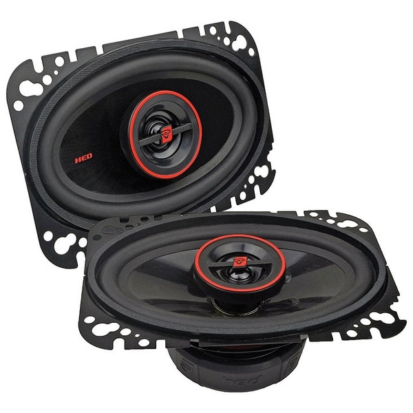 """Cerwin Vega Hed 4""""X 6"""" 2-Way Coaxial Speaker Set - 275W Max / 30W Rms"""