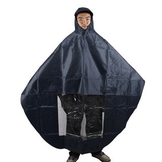 Dark Blue Waterproof Hooded Raincoat Poncho Cover Protector for Motorcycle