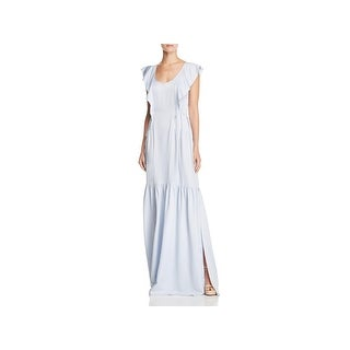 French Connection Womens Maxi Dress Drapey Cap Sleeves