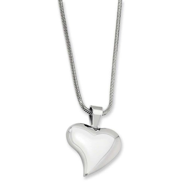 Chisel Stainless Steel Heart Pendant Necklace (2 mm) - 18 in