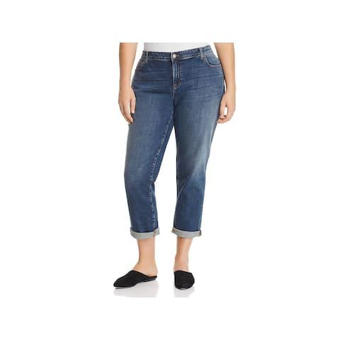 Eileen Fisher Womens Plus Boyfriend Jeans Denim Light Wash - 18W