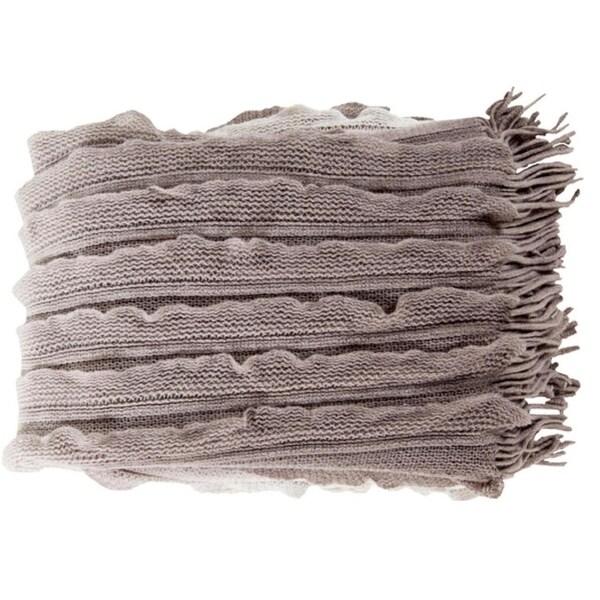 """50"""" x 60"""" Gray and White Gray Elegant Autumn Throw Blanket"""