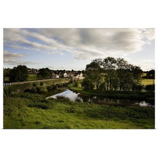 """""""Old Bridge over the Kings River, and Kells Village, County Kilkenny, Ireland"""" Poster Print"""
