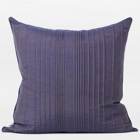 """G Home Collection Luxury Purple Striped Textured Pillow 20""""X20"""""""