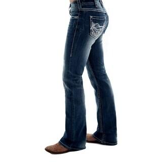 Cowgirl Tuff Western Denim Jean Womens Spring Bling Medium Wash JSPRBL