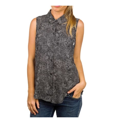 Vans Womens Lonerism Button Down Blouse