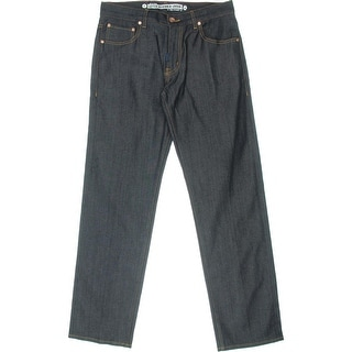 LRG Mens Denim Straight Fit Straight Leg Jeans - 32