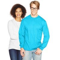 Hanes Adult Beefy-T Long-Sleeve T-Shirt - Size - 3XL - Color - Blue Horizon
