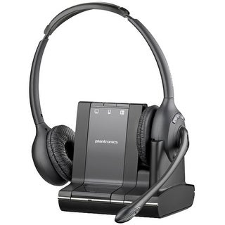 Plantronics Savi W720 Headset - Stereo - Wireless - DECT - 393.7 (Refurbished)