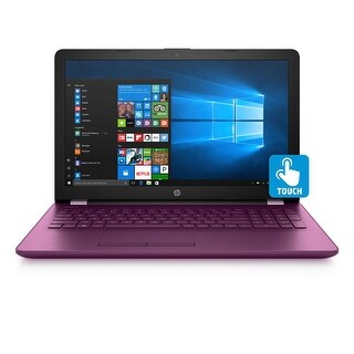 "HP 15-bs010DS Quad-Core Pentium N3710 1TB HDD 15.6"" HD Touch Screen Laptop - Burgundy"