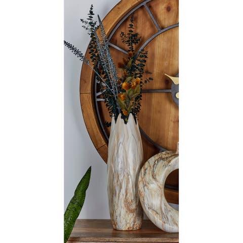 Carson Carrington Alavus Dark Marble Ceramic 7-inch x 21-inch Table Vase