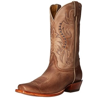 Nocona Boots Mens Legacy Leather Embroidered Cowboy, Western Boots - 6 extra wide (e+, ww)