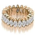 4.50 cttw. 14K Rose Gold Marquise Diamond Eternity Ring - Thumbnail 0
