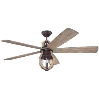 "Craftmade WIN56ABZ5 Winton 56"" 5 Blade DC Indoor Ceiling Fan - Blades, Remote and Light Kit Included"