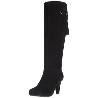 Bandolino Bacia Wide Calf Women Round Toe Suede Knee High Boot