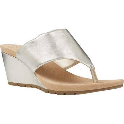 8f9be14917f Bandolino Women s Sarita Wedge Thong Sandal Platino Metallic Nappa PU. Was.   29.95.  12.99 OFF. Sale  16.96
