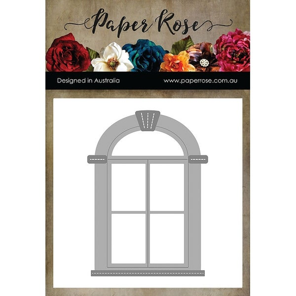 Paper Rose Dies-Tudor Arched Window