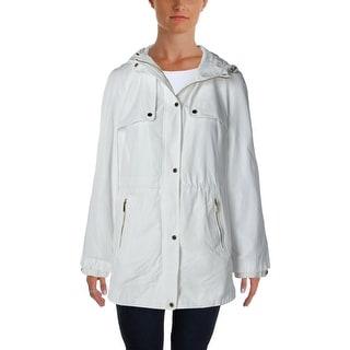Calvin Klein Womens Soft Shell Jacket Waterproof Drawstring Waist
