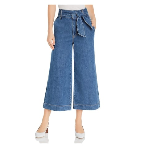 JOIE Womens Blue Pocketed Wide Leg Jeans Size 0