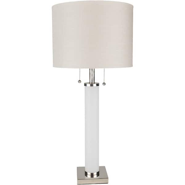 Pius 33 In White Modern Table Lamp Overstock 20729221
