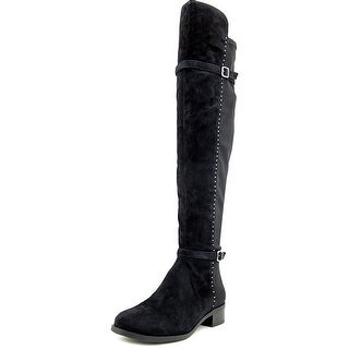 Ivanka Trump Offin Women Round Toe Suede Over the Knee Boot