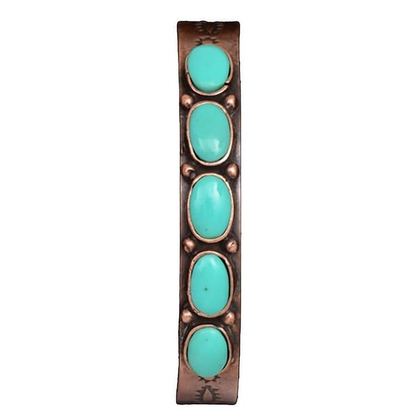 LoulaBelle Western Jewelry Womens Bracelet Southwest Copper LLB9041CTQ - copper turquoise
