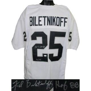 buy popular 56f9f 273b9 Fred Biletnikoff signed White TB Custom Stitched Pro Style Football Jersey  HOF 88 XL JSA Hologram | Overstock.com Shopping - The Best Deals on ...
