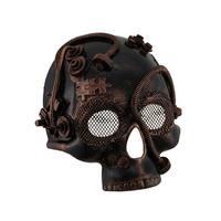 Metallic Steampunk Half Skull Masquerade Mask