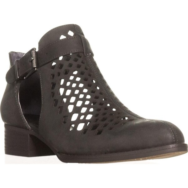 Vince Camuto Cadey Cutout Ankle Booties, Battleship