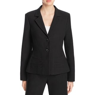 Link to Finity Womens Three-Button Blazer Gathred Double Vented Similar Items in Suits & Suit Separates
