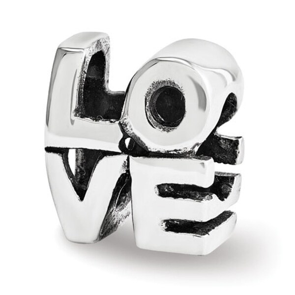 Sterling Silver Reflections LOVE Bead (4mm Diameter Hole)