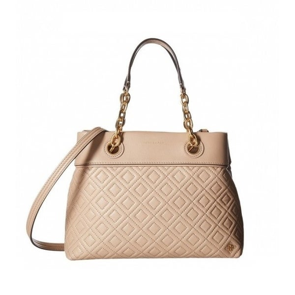 ca1d2687b1cd Shop Tory Burch Fleming Small Leather Tote - Birch - Free Shipping Today -  Overstock - 26412398