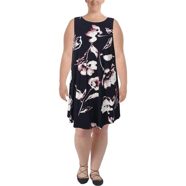 88d9ae6c6b Lauren Ralph Lauren Womens Plus Suzan Casual Dress Matte Jersey Floral Print