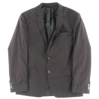 BOSS Hugo Boss Mens Hutson2/Gander Two-Button Suit Jacket Wool Lined - 42R