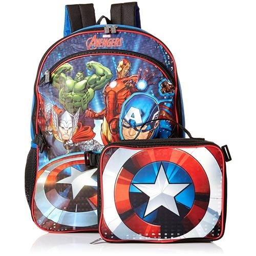 867ae6de Shop Marvel Boys Avengers Backpack and Lunch Bag - Free Shipping On Orders  Over $45 - Overstock - 18768221
