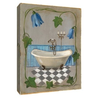 "PTM Images 9-154870  PTM Canvas Collection 10"" x 8"" - ""Bell Flower Bath I"" Giclee Bathroom Art Print on Canvas"