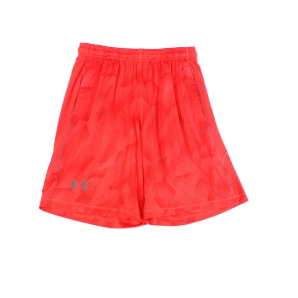 Under Armour Red Mens Size Medium M Pull-On Basketball Shorts
