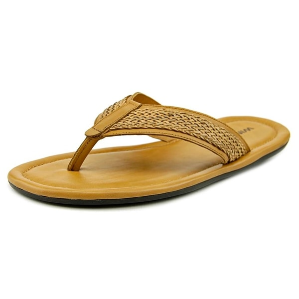 Winthrop Branson Men Open Toe Leather Tan Thong Sandal