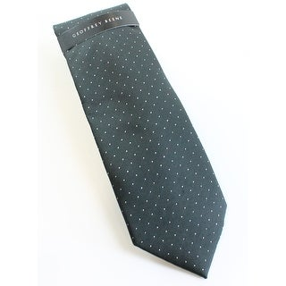 Geoffrey Beene NEW Black Silver Men's Metallic Polka-Dot Neck Tie