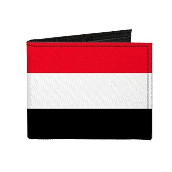 Buckle-Down Canvas Bi-fold Wallet - Yemen Flag Accessory