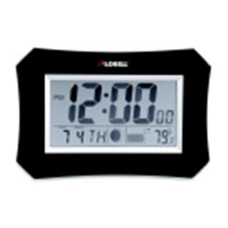 Lorell 10.12 in. Lunar Wall & Alarm Clock, Black Frame