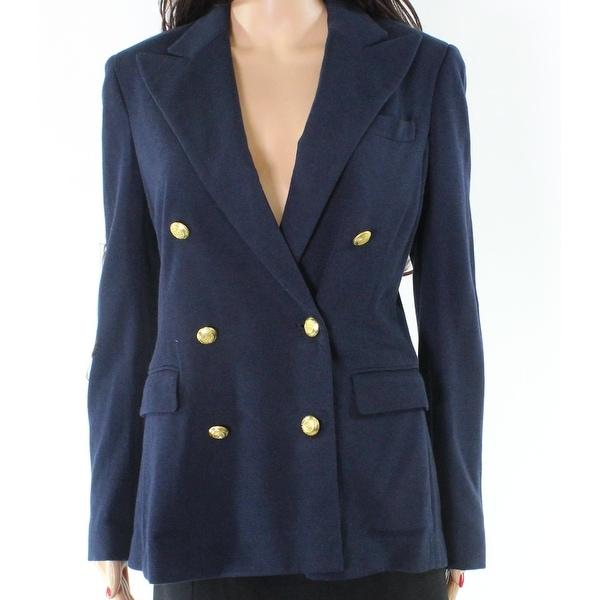 570dcb03a Shop Polo Ralph Lauren NEW Blue Navy Sailor Women's 8 Knit Blazer ...